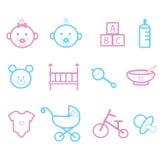 Fronti e giocattoli del bambino Immagini Stock Libere da Diritti