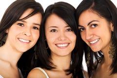 Fronti felici degli amici Fotografia Stock Libera da Diritti