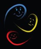 Fronti felici della gente Immagine Stock Libera da Diritti