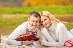 Fronti felici della gente nell'amore Fotografie Stock