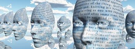 Fronti Humanlike coperti in testo illustrazione vettoriale