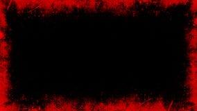Fronti?re grunge rouge de cru sur le fond blanc d'isolement pour le copyspace Recouvrements abstraits de cadre ?l?ment de concept illustration de vecteur
