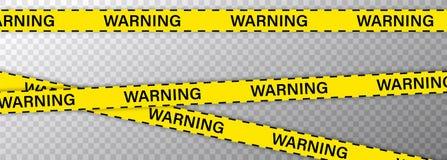 Fronti?re noire et jaune de ligne de police cr?ative de rayure La police, avertissement, en construction, ne croise pas, s'arr?te illustration libre de droits