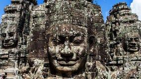Fronti su Prasat Bayon, Angkor Thom Immagine Stock Libera da Diritti