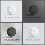 Fronti tridimensionali dell'aereo di forma di Dodecahedron Royalty Illustrazione gratis