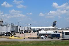 Frontier Airlines at ATL Stock Images