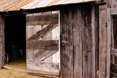 Frontier barn. Barn of an early frontier South Dakota homestead Royalty Free Stock Photos