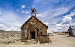 Frontier Church. Authentic frontier church at the restored Eastern Sierra ghost town of Bodie, California Stock Photo