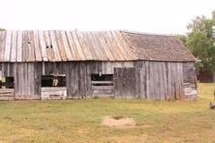Frontier farmstead barn. Barn at a sod home in South Dakota homestead Royalty Free Stock Photos