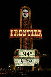 Frontier hotel sign. Old frontier sign off a hotel that doesnt exist in las vegas anymore royalty free stock photography