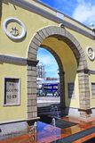 Frontier Post of the Border Gate, Macau, China. Frontier Post of the Border Gate is an immigration and customs checkpoint in the Portas do Cerco area in northern Stock Photography