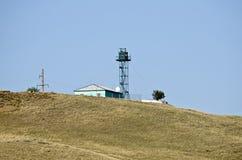 Frontier post. Lookout tower on frontier post in Crimea, Ukraine Stock Photos