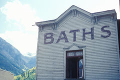 A frontier town bath house, Telluride, CO Royalty Free Stock Photo
