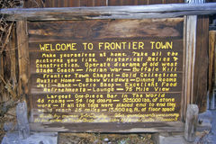 Frontier town in Helena, MT Royalty Free Stock Photos