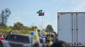Frontier between Venezuela and Brazil. Frontier of Venezuela and Brazil royalty free stock image