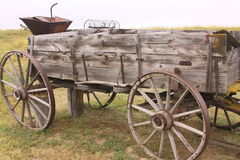 Frontier wagon. Wagon on an early frontier South Dakota homestead Royalty Free Stock Photography