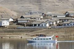 Frontiera del Coreano di Cino-Nord Fotografia Stock Libera da Diritti