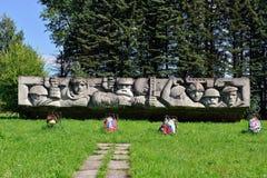 Frontiera di Lembolovo, monumento alla vittoria. San Pietroburgo, Fotografia Stock Libera da Diritti