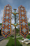 Frontiera monastica in Tailandia Fotografia Stock