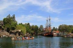 Frontierland bei Disneyland stockbilder