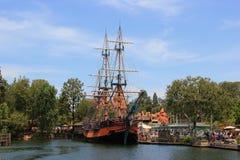 Frontierland in Disneyland stock foto's