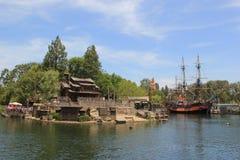 Frontierland på Disneyland arkivbild