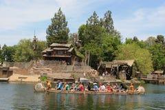 Frontierland på Disneyland royaltyfria foton