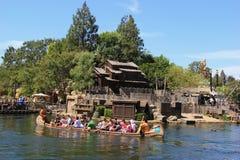Frontierland på Disneyland royaltyfri fotografi