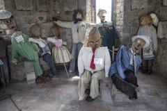 Frontino marcheert, Italië: Museum van de vogelverschrikkers Stock Afbeelding