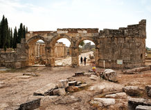 Frontinus street and Gate - The main thoroughfare of Hierapolis Stock Photography