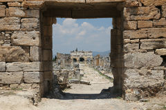 Frontinus Street in Hierapolis Ancient City, Turkey Royalty Free Stock Photography