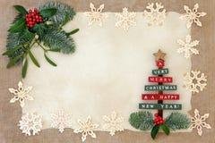 Frontière abstraite de Noël Photos libres de droits
