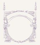 Frontière antique de style Image stock