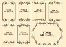 Frontière décorative de conception de vintage Images libres de droits