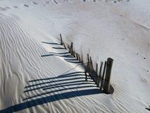 Frontière de sécurité de dune de sable Image libre de droits