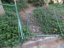 Frontière de sécurité de fil verte Photo stock