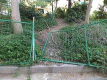 Frontière de sécurité de fil verte Photo libre de droits