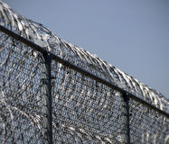 Frontière de sécurité de prison Photos libres de droits