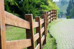 Frontière de sécurité en bois Photographie stock