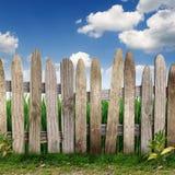 Frontière de sécurité en bois Images stock