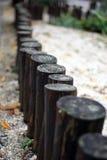 Frontière de sécurité en bois Photo stock