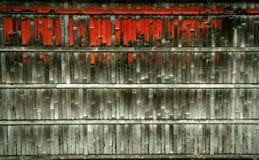 Frontière de sécurité en bois grunge Photos stock