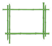 Frontière florale avec l'espace en bambou de tige et de copie Image stock