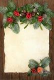 Frontière traditionnelle de Noël Photographie stock libre de droits