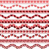 Frontières de jour du ` s de Valentine Images stock