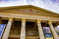 Frontispiece του μουσείου των Καλών Τεχνών στοκ φωτογραφία