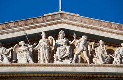 Fronton of the Academy of Athens. Royalty Free Stock Image