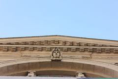 Fronton of the ancient buildings of Lviv Stock Photography