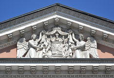 Fronton of palace in St. Petersburg Royalty Free Stock Photos