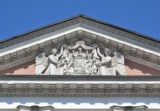 Fronton of palace in St. Petersburg Stock Photography